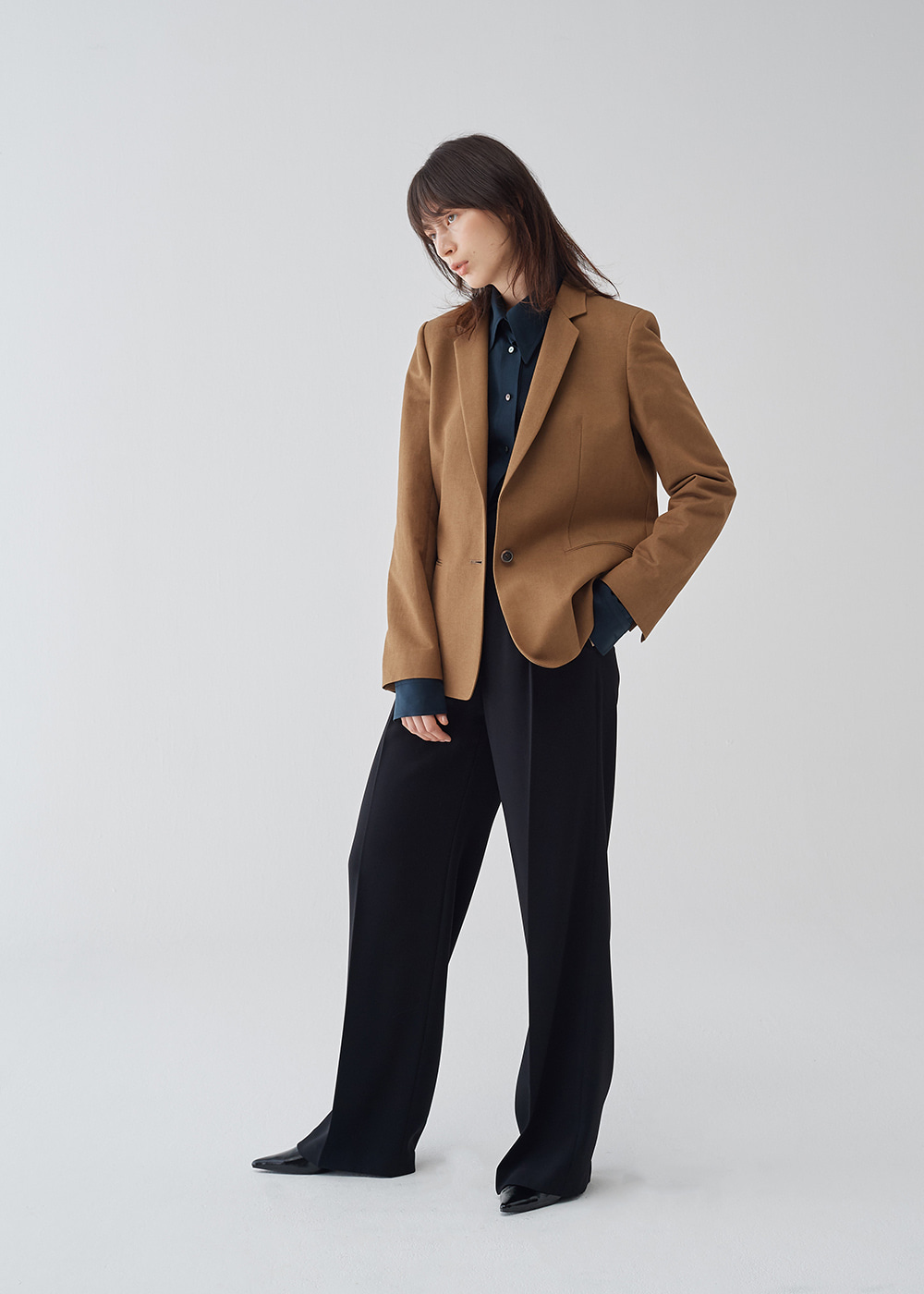 Slim Collar Single Blazer
