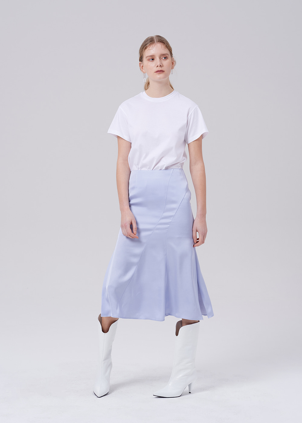Cut Out Side Vent Skirt LAVENDER